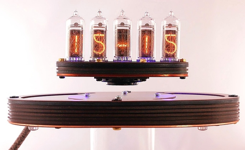 Levitating Nixie Clock by Tony Adams