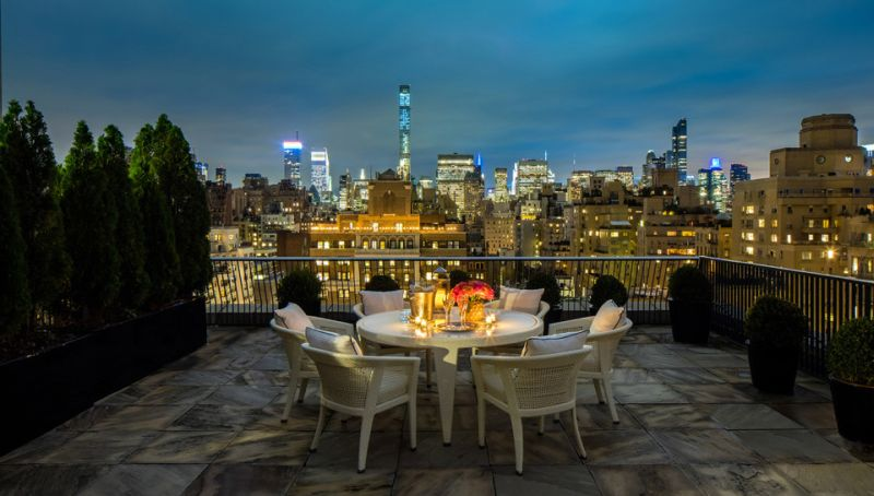 Stunning private rooftop terrace with amazing cityscape