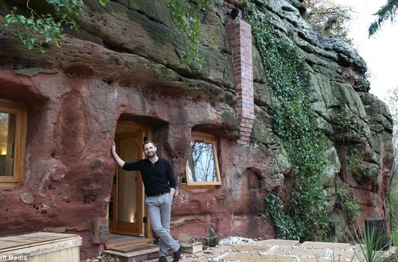 Man renovates 700-year-old Worcestershire cave into his dream home