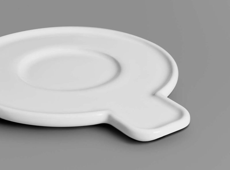 Saucer's protruding tab make it handy