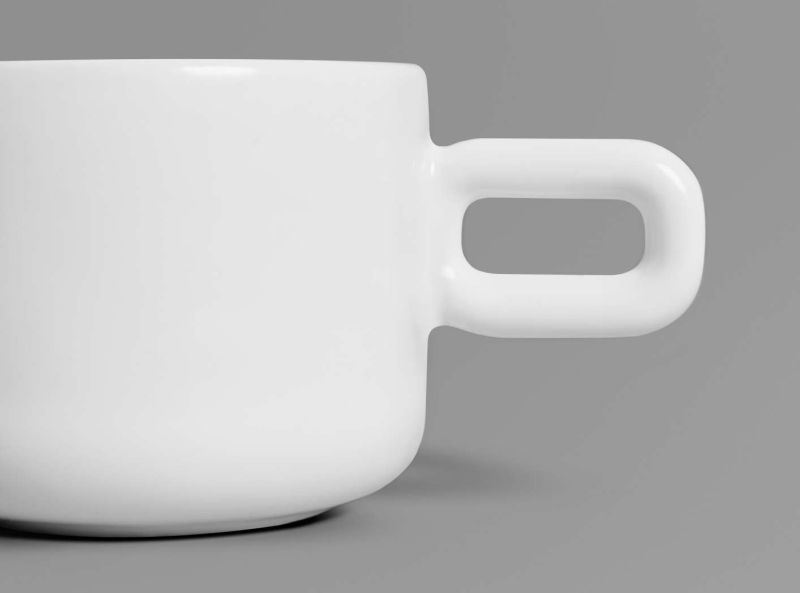Cup designed to match with spoon