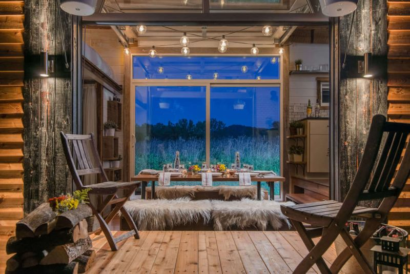 Stylish Glass windows and exotic furniture