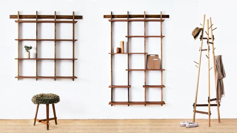 A number of modules to have different-sized bookshelves