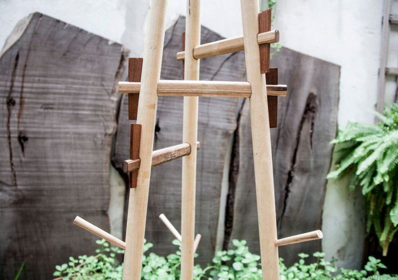 Sticotti rack with Japanese joinery technique