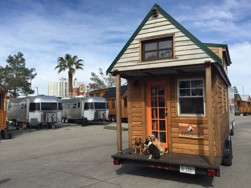 Front view of the amazing tiny house