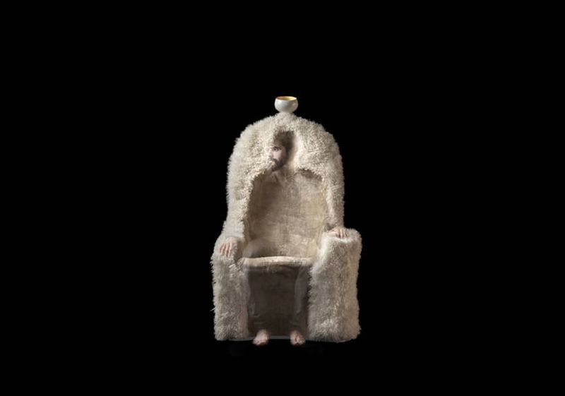 'Invisible Personage' armchair inspired from surreal paintings of Dali