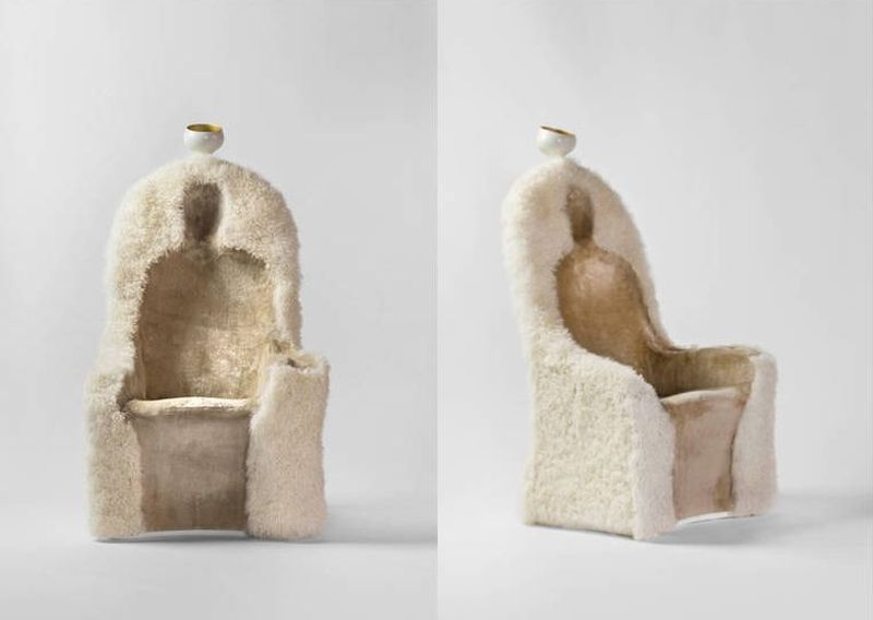 Front and side look of the Invisble Personage armchair