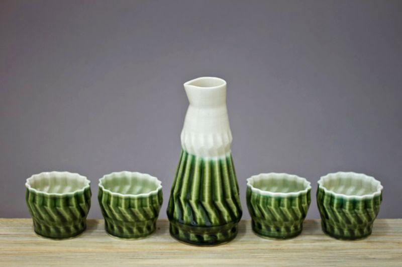 3D printed porcelain ceramics by Heather Kegel