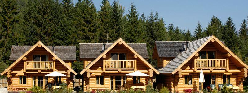 Three distinct cabins