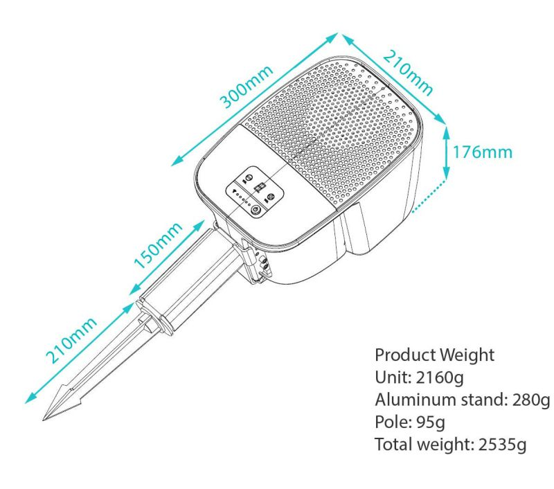 Perfect dimensions and weight make it portable device