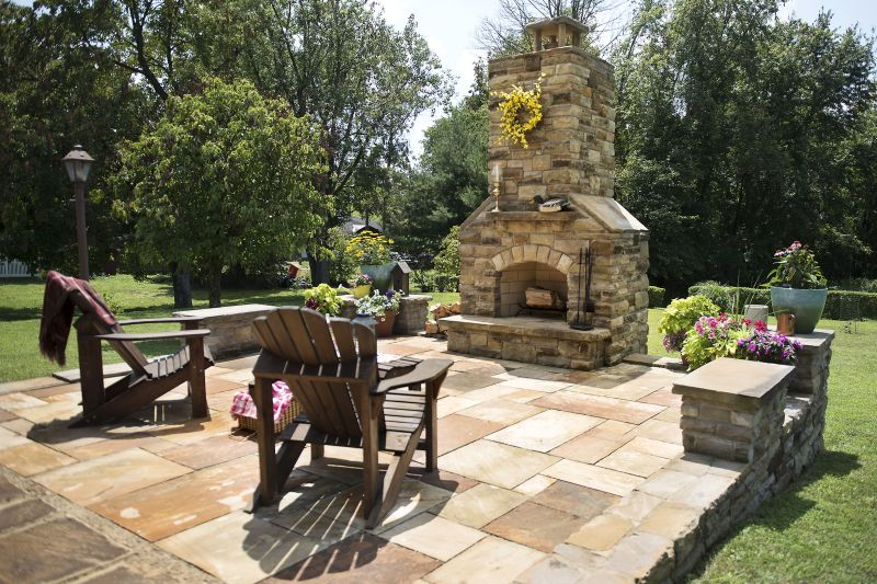 Outdoor patio backyard landscaping
