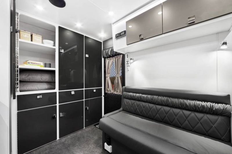 Efficiently utilized every space to include enough storage in the van