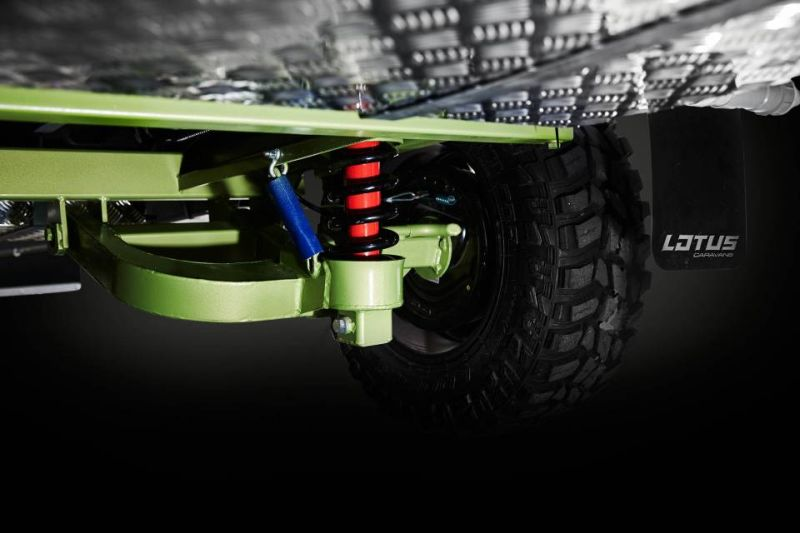 Heavy duty suspension integrated in the van to maximise off-road experience
