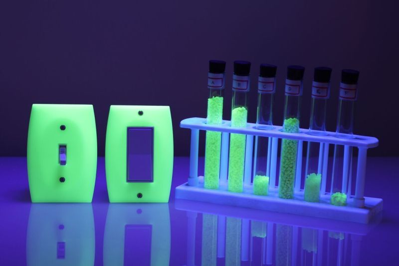 supercharged, long-persistence luminescent glow-in-the-dark plastic