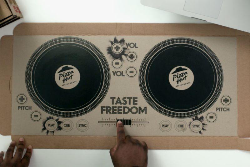 Pizza Hut's playable DJ pizza box