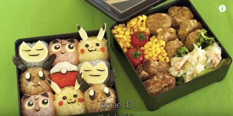 Pokémon Go-inspired bento lunchbox
