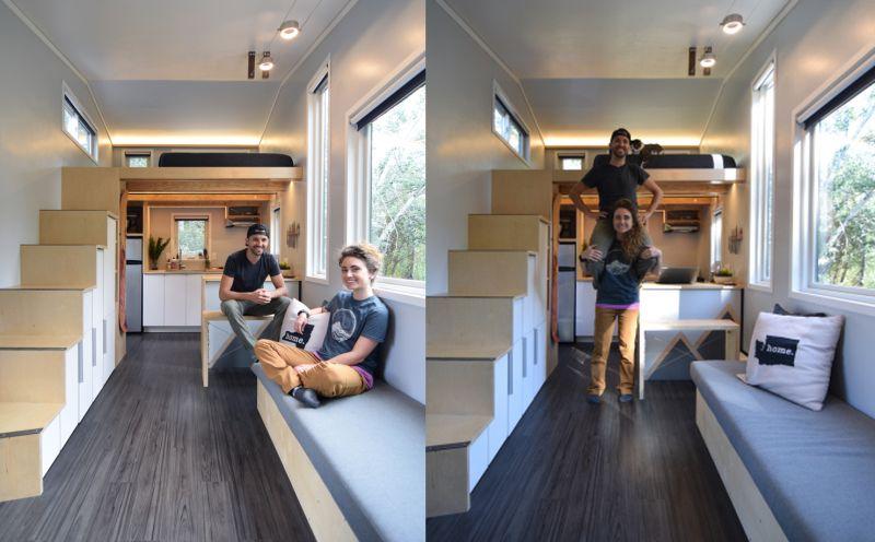 Spacious tiny house build by a couple