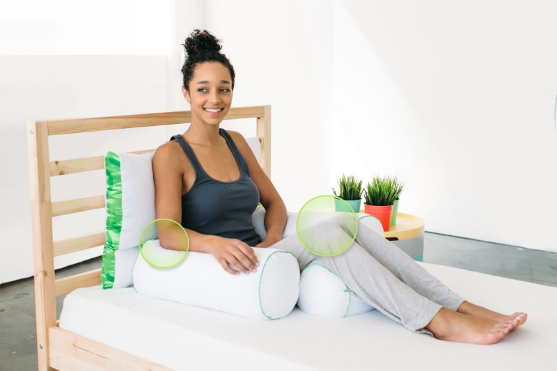While sitting or sleeping the pillows relax your body muscles