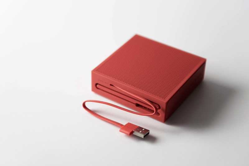The charging cable blends into the design