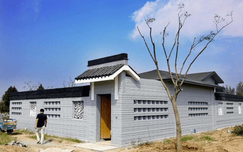 3D printed houses in China's Shandong Province