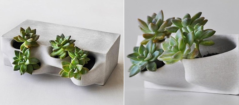 Brick planters 3D printed