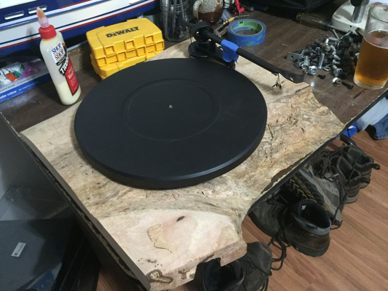 DIY Pro-Ject Debut Carbon turntable with mango plinth