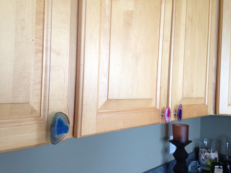 Use as knobs in cabinets