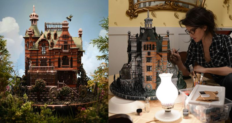Edible gingerbread house from Tim Burton's latest film