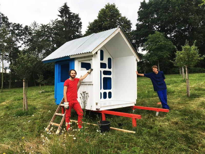 France tiny house by Joshua Woddsman has three separate living sections_11