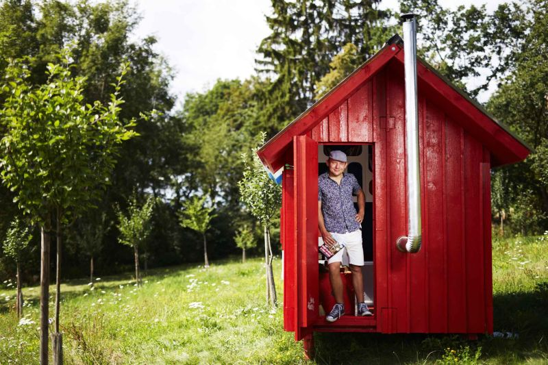 France tiny house by Joshua Woddsman has three separate living sections_3