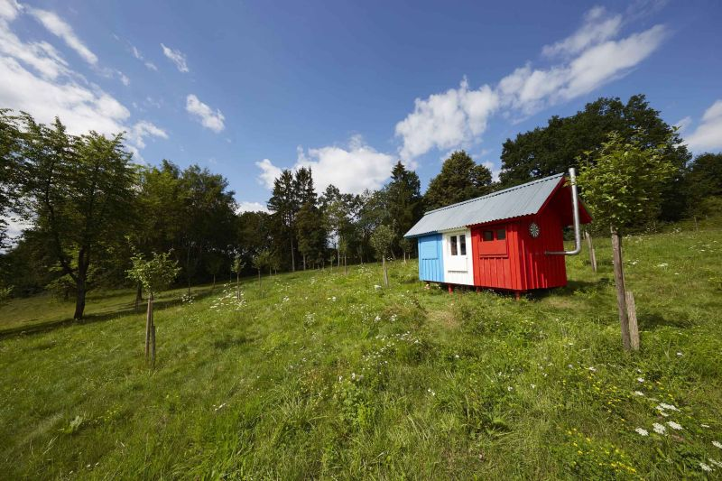 France tiny house by Joshua Woddsman has three separate living sections_4