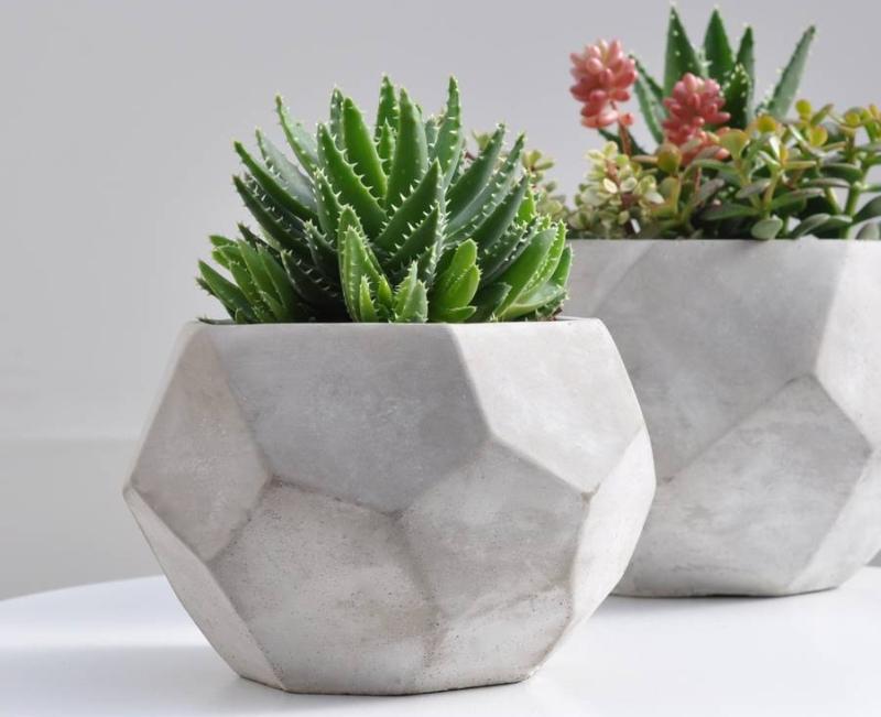 Geometric Concrete Planters Pots