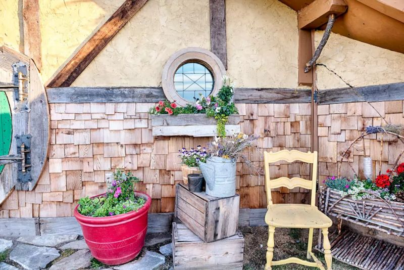 Exteriors are made using reclaimed materials