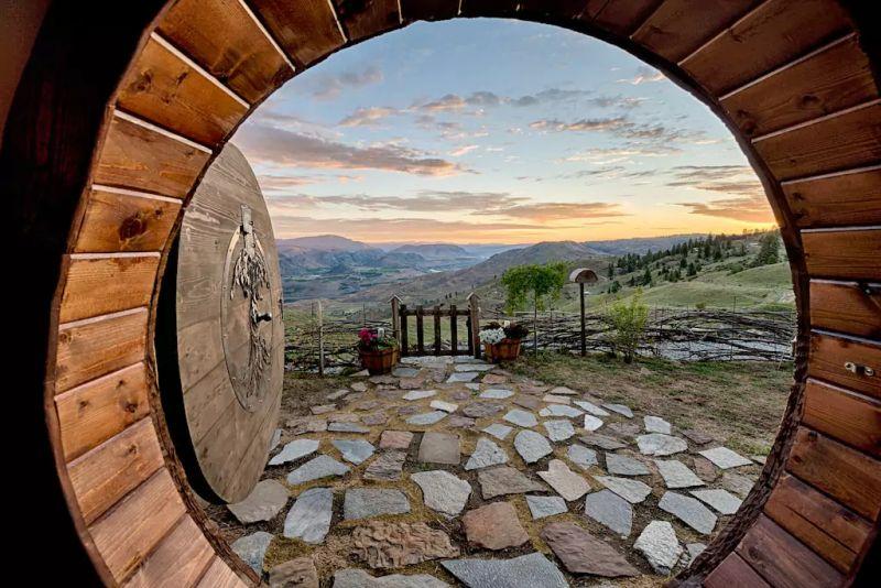 When door is open, it offers magnificent views