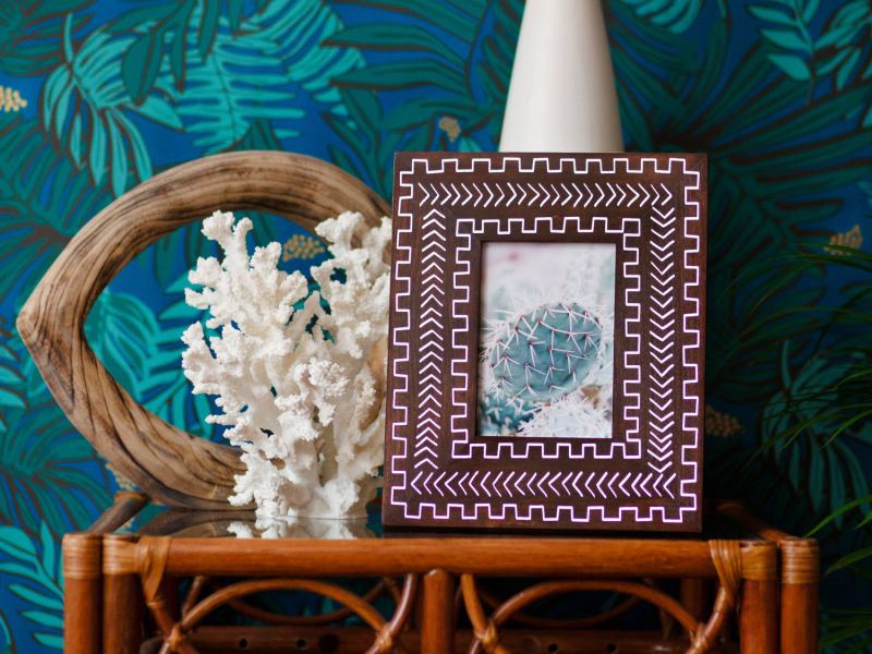 Bohemian-chic styled picture frames by Alyse Rodriguez