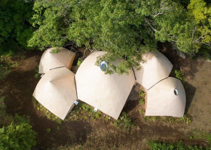 Issei Sumo designs tipi house from wooden panels_1