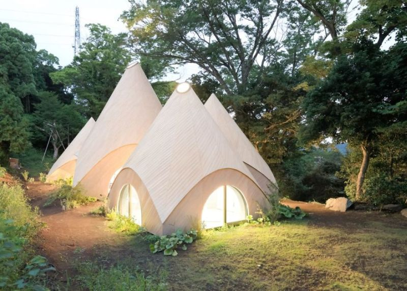 Issei Sumo designs tipi house from wooden panels_10