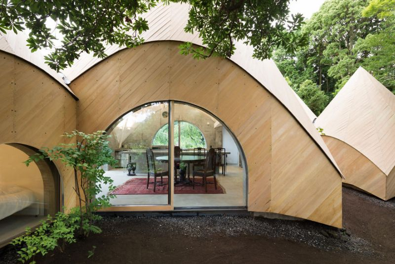 Issei Sumo designs tipi house from wooden panels_3