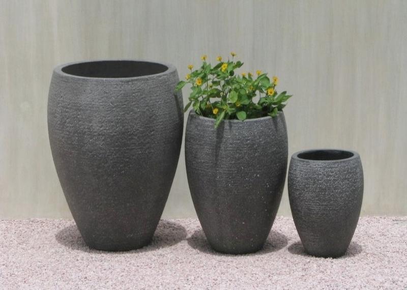 Light Concrete Planter