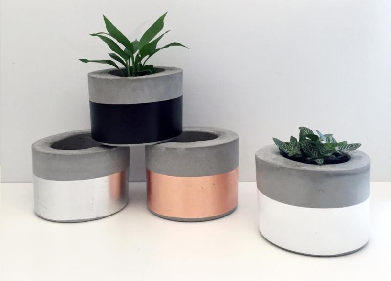 Marble Concrete Planters