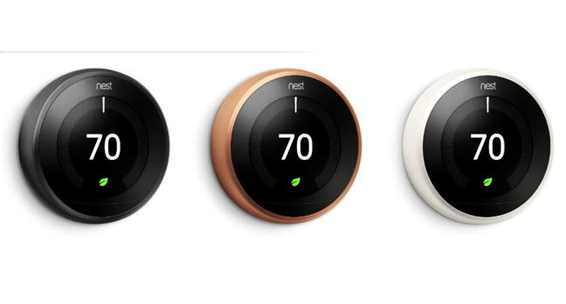 Nest thermostat 3.0 to jazz up your walls with three pretty colors