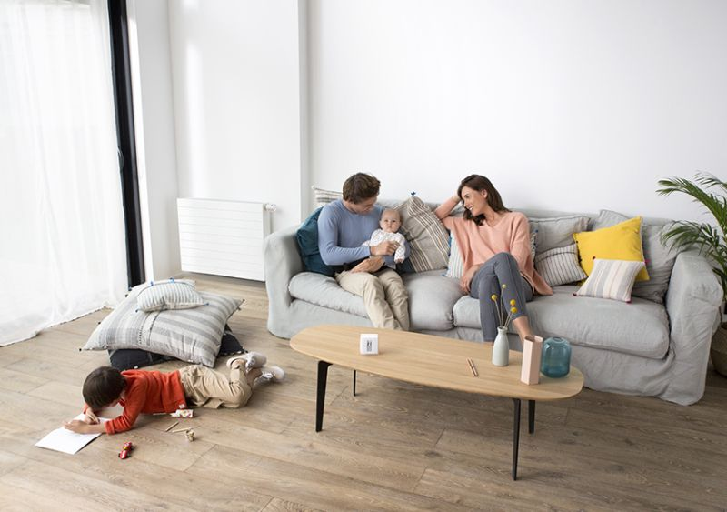 Save up to 37 percent of energy to heat up your rooms