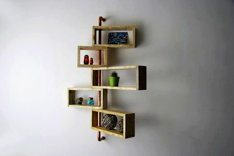 Nitya pallet wood shelving system by YvaR DesigN
