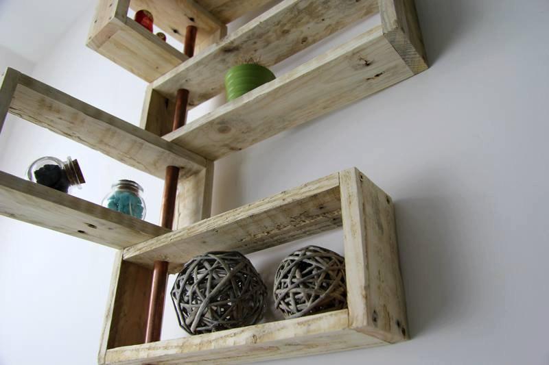 Nitya pallet wood shelving system by YvaR DesigN