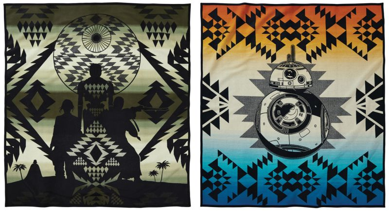 Pendleton blankets feature BB-8 and Star Wars Rogue One characters