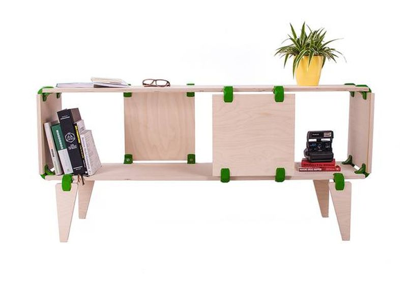 Playwood 3D printed connector furniture