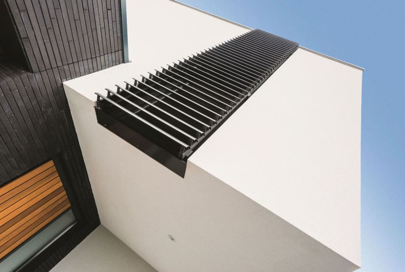Aluminum-made shutters are stable and aesthetic