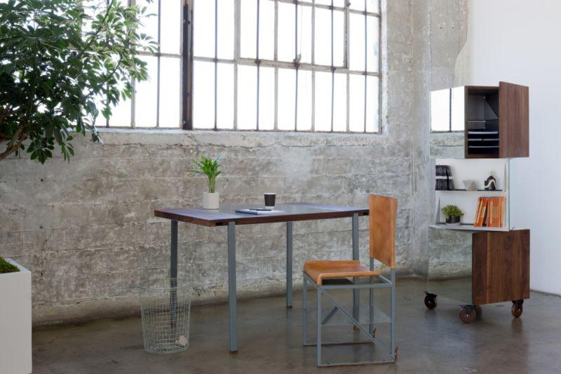 Convertible desk and chair by Stephen Kenn under Victorinox