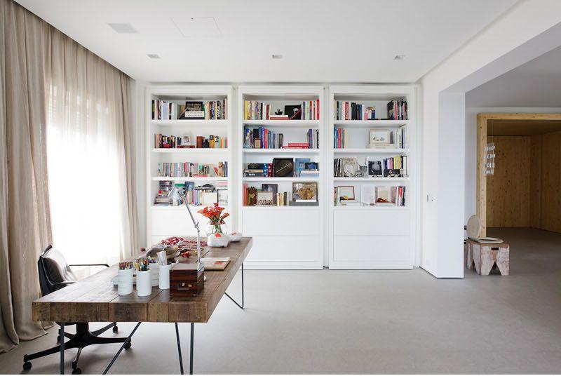 Bookshelves as door of a secret room