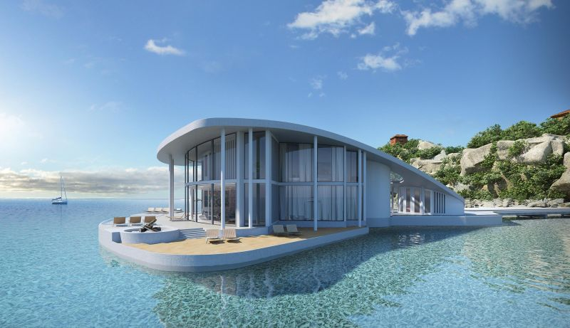This luxury floating home by Tangram 3Ds looks just like a Stingray_2